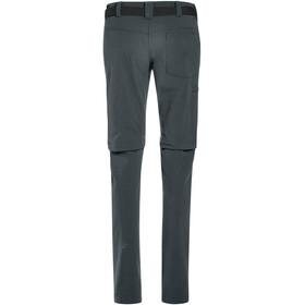 Maier Sports Inara Slim Pantalon convertible avec fermeture éclair Femme, graphite